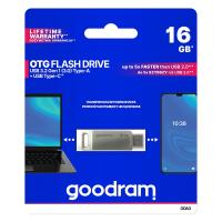 PEN DRIVE 16GB GOODRAM USB 3.0/type C DualDrive ODA3 SILVER