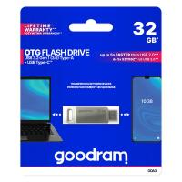 PEN DRIVE 32GB GOODRAM USB 3.0/TYPE C DualDrive ODA3 SILVER
