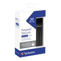 PEN DRIVE 32GB VERBATIM USB 3.0 KEYPAD SECURE WITH 256-BIT AES HARDWARE ENCRYPTION USB A