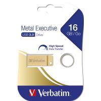 PEN DRIVE 16GB VERBATIM USB 3.0 Metal Executive Gold